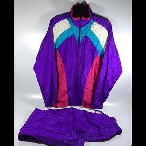 Inertia women's medium purple  Vintage track suit